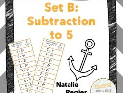 Math Anchor Set B: Subtraction to 5