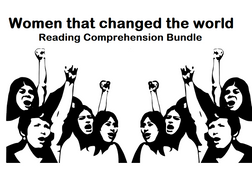 Women that changed the world - Reading Comprehension Worksheets - Bundle (SAVE 70%)