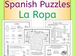 Spanish clothing - la ropa - puzzles