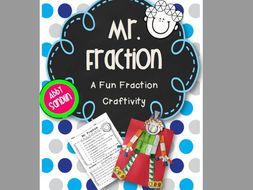 Mr. Fraction: A Fraction Craftivity {3.NF.A.1}