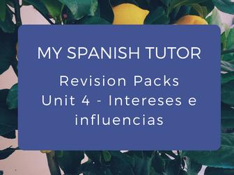 GCSE Revision Pack - Unit 4 Intereses e Influencias