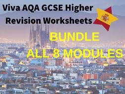 Spanish Viva GCSE Revision Booklets BUNDLE