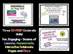 Three Fun Cinderella No-Prep Book Unit