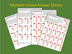 Multiple Choice Answer Sheet Bundle