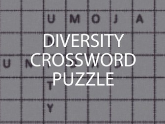 Diversity Crossword Puzzle and Lesson (US)
