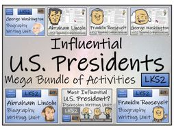 LKS2 History - Influential U.S. Presidents Reading Comprehension & Writing Bundle