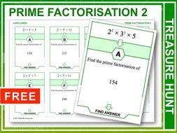 Prime Factorisation 2 (Treasure Hunt)