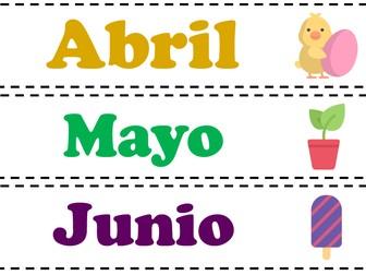 Poster - Spanish - Los meses del año y los días de la semana
