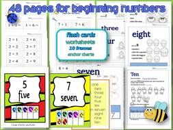 Beginning Numbers-Tracing-10frames- bulletin board anchors