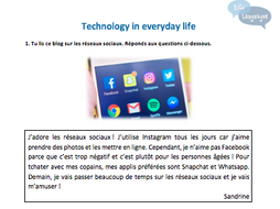 Key Stage 3 French - Technology - New GCSE-style activities
