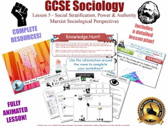 Marxist Perspectives - Social Stratification L5/20 [ AQA GCSE Sociology - 8192] Class Poverty Power