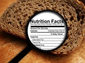 Understanding food labels: Lesson plan