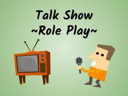 Talk Show Role Play (ESL/ELA Speaking Activity!)
