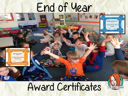End of Year Classroom Award Certificates