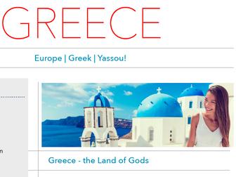 Discover Greece - Printable Worksheet