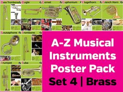 Musical Instrument Posters Pack 4: Brass