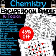 Chemistry Escape Room Bundle