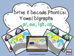 Phase 3 Phonics Blending Activity - ai, ee, igh, oa
