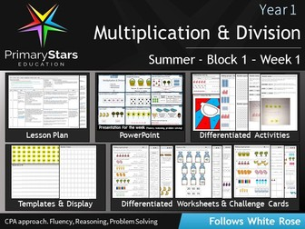 YEAR 1 - Multiplication & Division - White Rose - WEEK 1 - Block 1 - Summer- Differentiated Pack