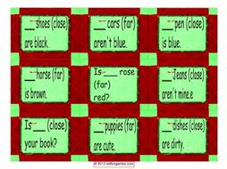 Demonstratives Card Game 4 Pages = 36 Cards