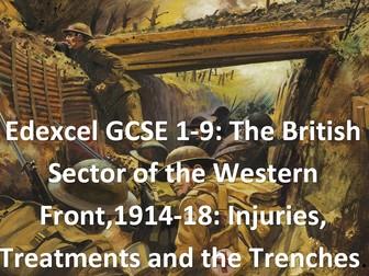 WWI Medicine on the Western Front. (Edexcel  GCSE 1-9)