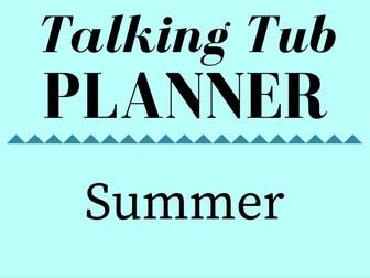 Summer Talking Tub Planner