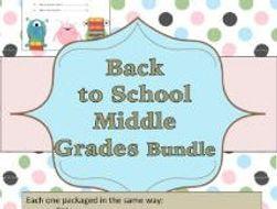 Back to School (Middle Grade) Bundle