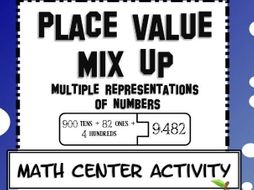 Place Value Mix Up , Math Center with Expanded Form and Number Names