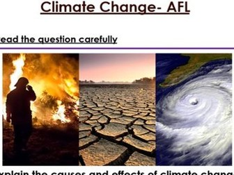 KS3 Climate Change six mark Question