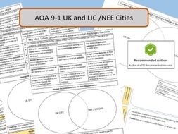 AQA 9-1 GCSE Urban World Challenges and Opportunities Revision Activities.