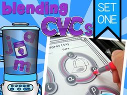 Blending CVC Words Set 1 - Activities, Word Cards and Assessments