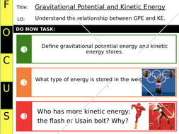 Gravitational potential and kinetic energy observed lesson
