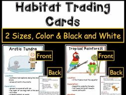Habitat Activities - Trading Cards