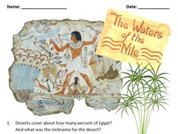 The River Nile Question Sheet