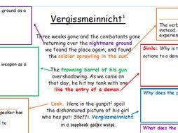 Partially Annotated Poem - Vergissmeinnicht - KEITH DOUGLASS