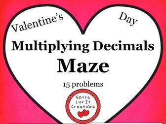Free Download Valentine's Day Multiplying Decimals