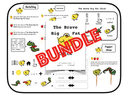 The Brave Big Fat Chick - Book + Activities for English (KS1)