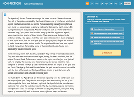 Year 6 Reading Comprehension (Non-fiction) - 'Myths of Ancient Greece'