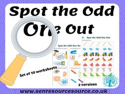 Spot the  odd one out worksheets