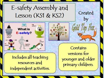 E-safety Assembly and Lesson (KS1 and KS2 internet safety)