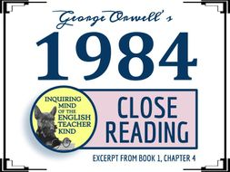 1984 Close Reading Passage on Falsifying the Past (Abridged Excerpt)