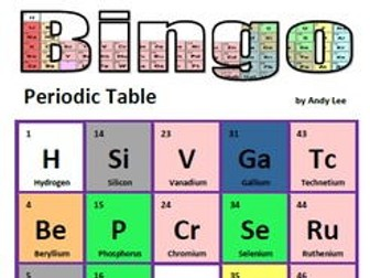 Periodic table bingo by andylee19641 teaching resources tes periodic table bingo urtaz Images