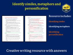 Identify similes, metaphors and personification (with answers)