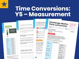 Time Conversions: Y5 – Measurement – Maths Challenge