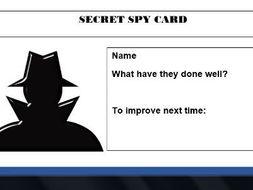 Secret Spy Cards - Behaviour for Learning Resource