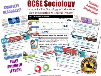 Introduction & Central Debates - EDUCATION -  L1/20 [WJEC EDUQAS GCSE Sociology]