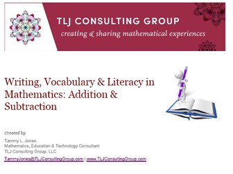 Writing, Vocabulary & Literacy in Mathematics: Addition & Subtraction