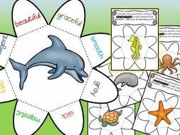 Animal Adjective Wheels - Ocean Animals