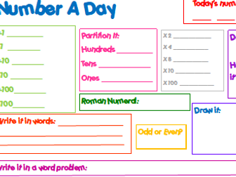 Y3 Morning Activity - Number A Day - Numeracy
