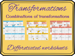 Combinations of transformations differentiated worksheet